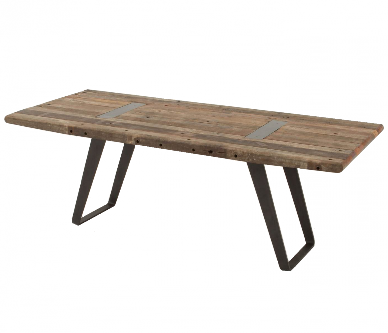 Superb img of Industrial Reclaimed Wood Dining Table 85″ Zin Home Blog with #7D654E color and 1280x1099 pixels