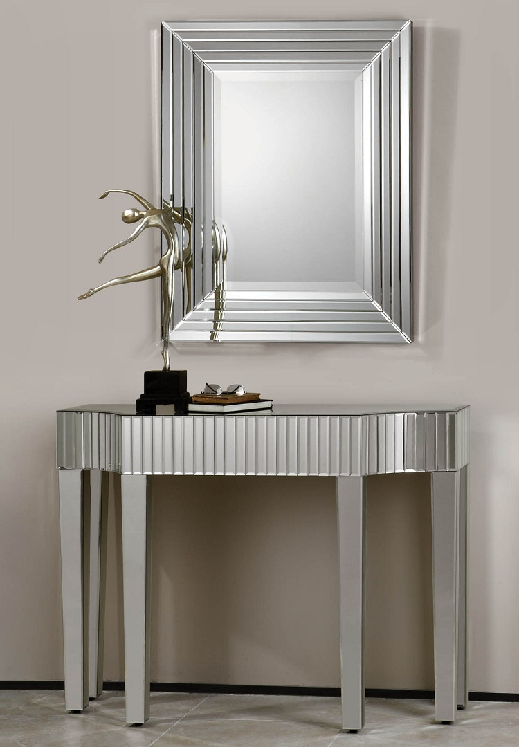 Mirrored Console U0026 Hall Tables Can Brighten Up Your Entrance.