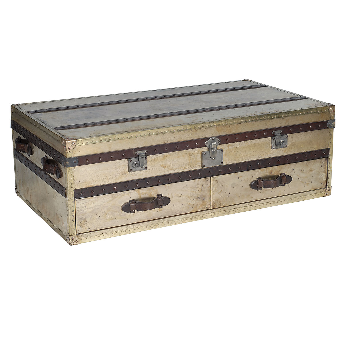 1 870 metal coffee table trunk 201 795 3448 Metal chest coffee table