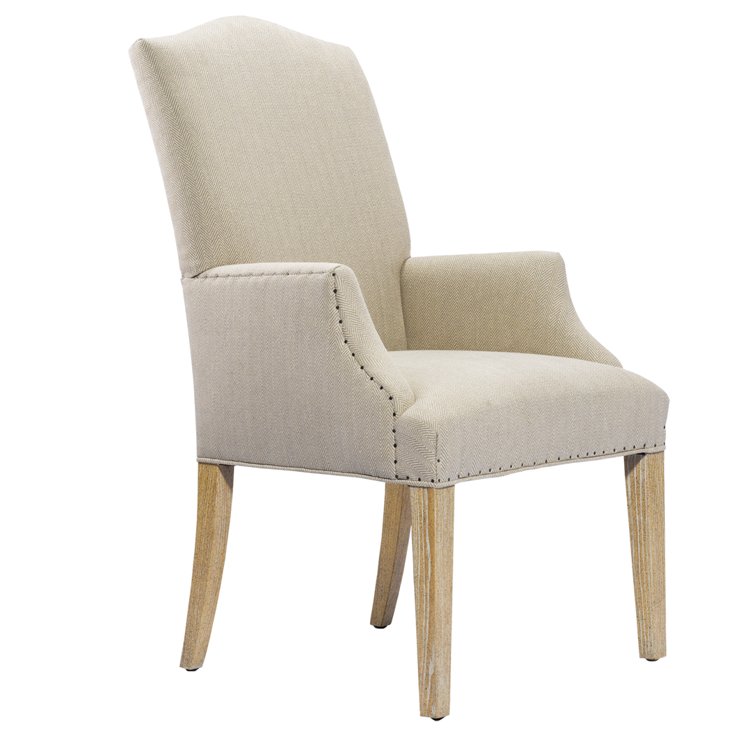 Furniture Dining Room Arm Chair Ash Upholstered