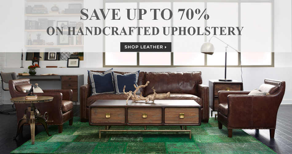 Carnegie Hand crafted Leather Sofa and Chair Sale