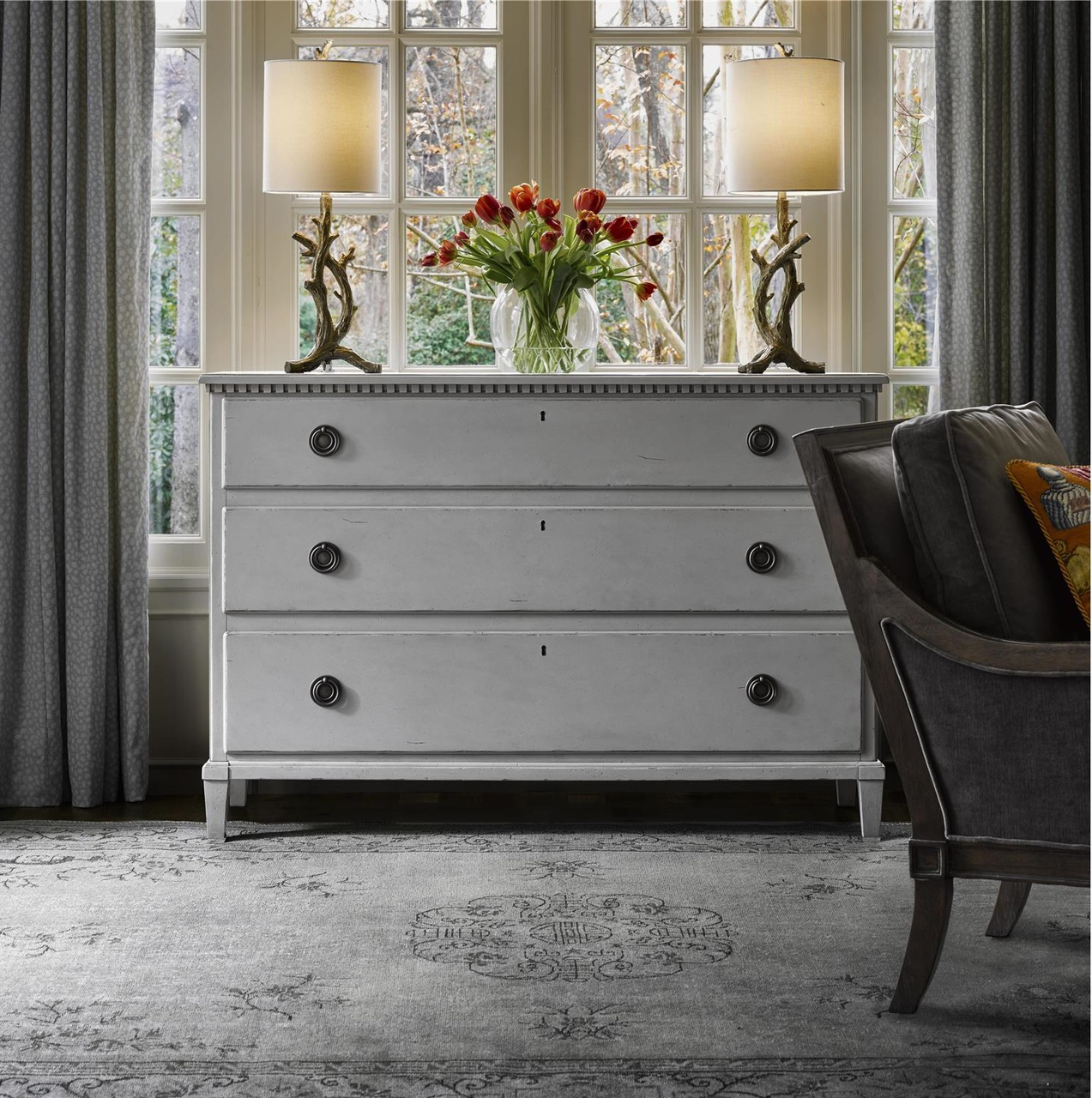 Universal Furniture Sojourn French Country 3 Drawer Dresser - Gray