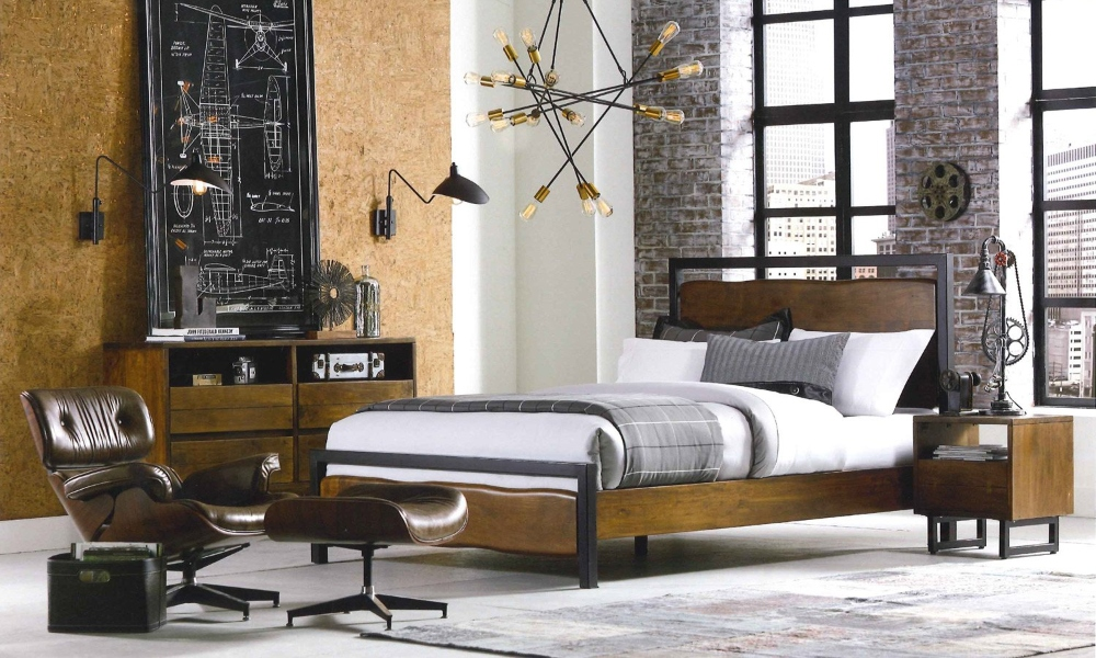 Industrial Farmhouse Bedroom