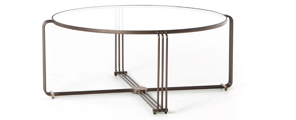 London Round Glass Top Coffee Table 40""