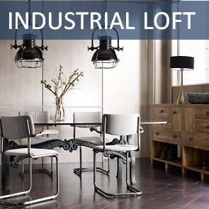 vintage industrial style chic furniture