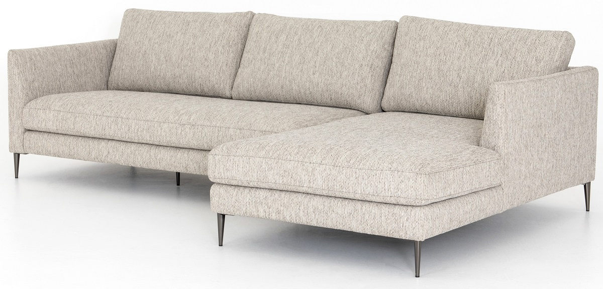 Kailor Modern Neutral Sectional Sofa with Right Chaise